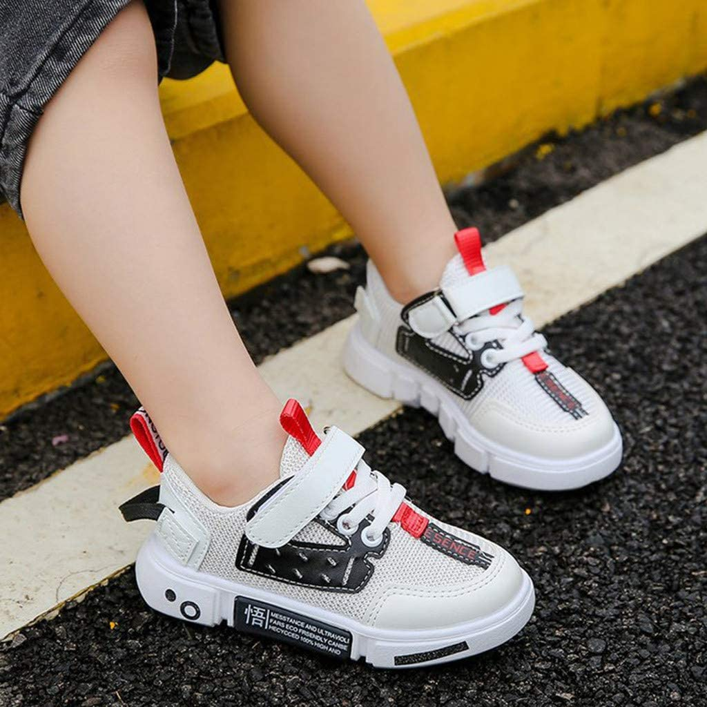 Girls Boys Kids Fashion Sneakers Outdoor Running Shoes 3-11 Years Old Teen Mixed Colors Lace-Up Sports Shoes