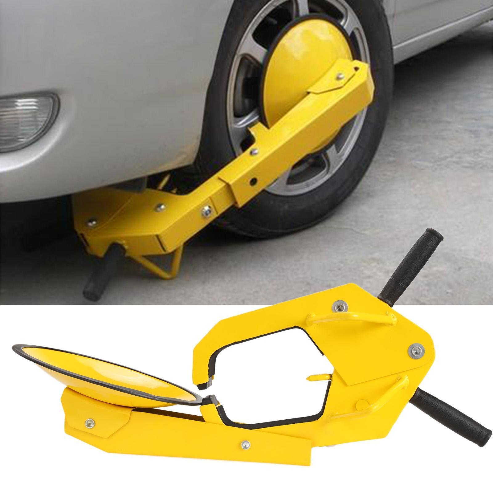 Trailer Tire Lock Clamp Boot Anti-Theft Car Tire Lock with 2 Keys