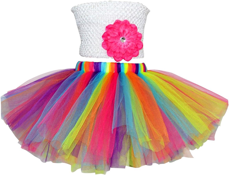 FEOYA Niñas Falda Tutu Skirt Corta de Ballet con Capas Cintura ...