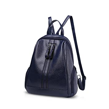 NICOLE&DORIS Moda Bolsa para la escuela Viajar Bolsa de hombro Mochila Bolso Cartera Chicas Mochila PU