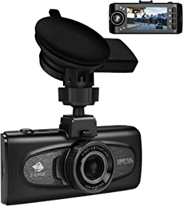 "Uber Dual Dash Cam, Z-Edge F1 2.7"" LCD Front and Inside Car Camera, Infrared Night Vision Dash Camera for Cars, Dual 1920x1080P, 1440P Front Camera with GPS, Sony Sensor, G-Sensor, Support 256GB Max"