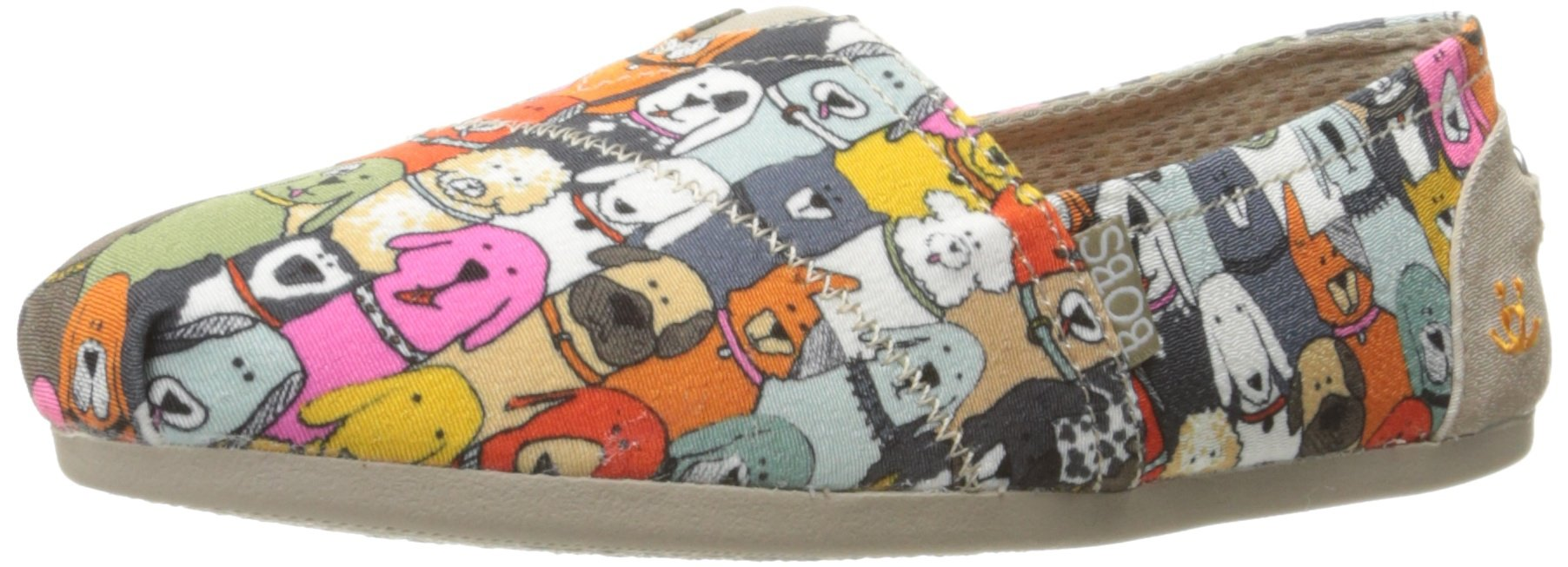 Skechers Bobs Plush Pup Smarts Womens Slip On Alpargata Flats, Multi, 7 M US