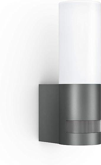 Steinel Außenleuchte L 605 LED Sensoraußenleuchte, 180° Bewegungsmelder mit 10m Reichweite, 9.5 W, 600 lm, Aluminium, Anthrazit