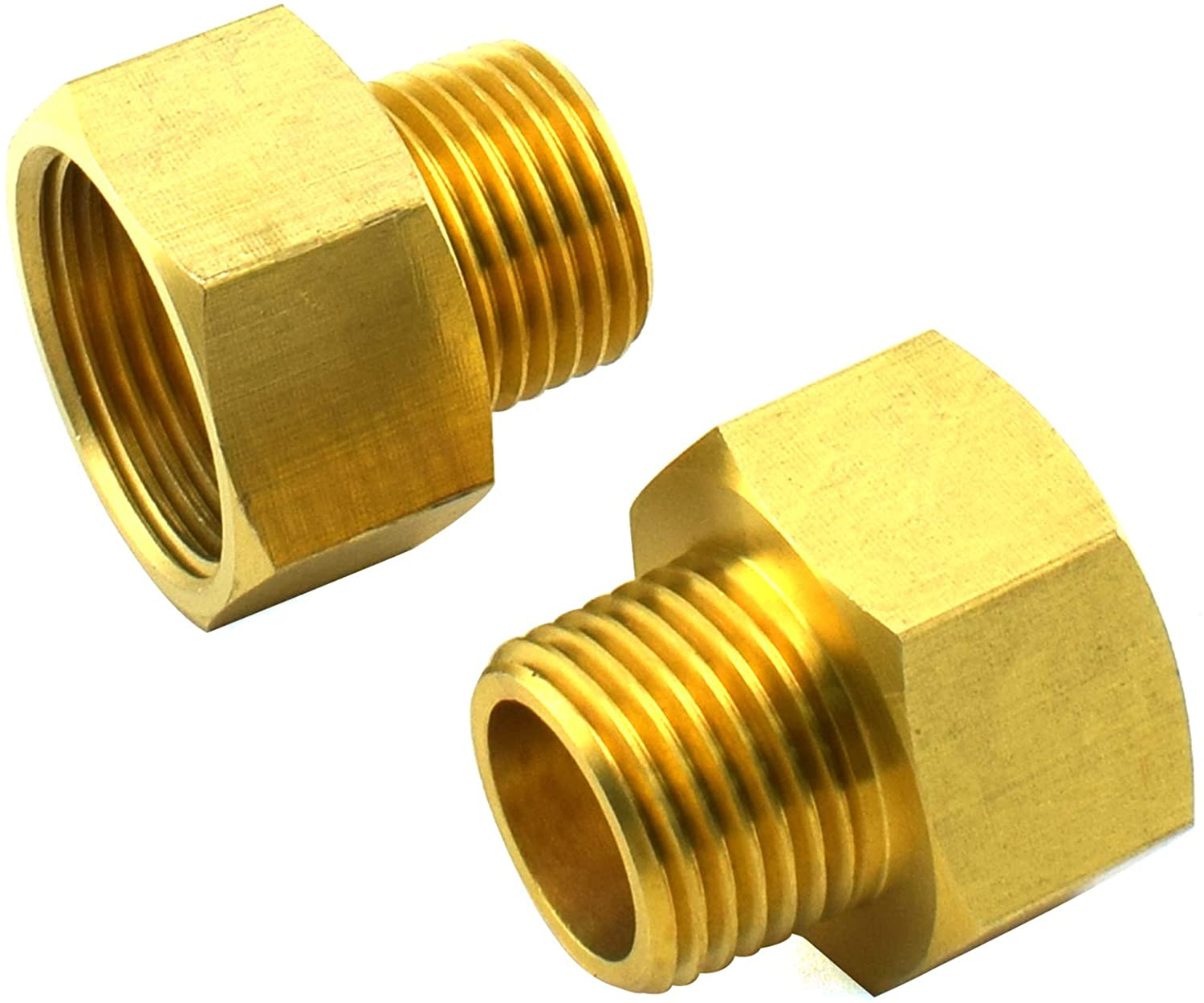 SDTC Tech 2-Pack Brass Pipe Fitting 1/2