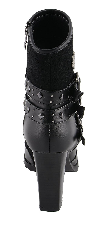 Milwaukee Performance Womens Riding Boot with Block Heel Black, 11