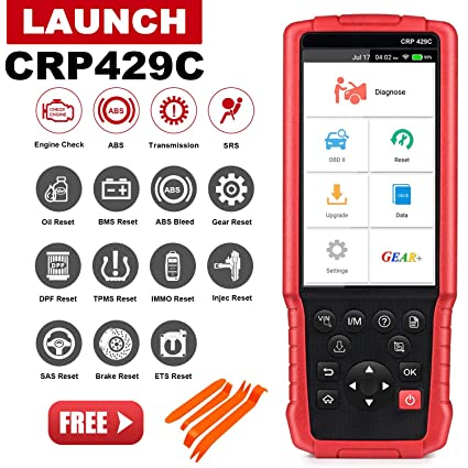 LAUNCH CRP429C OBD2 Scanner ENG/ABS/SRS/Transmission Diagnostic Scan Tool  with Oil Reset,EPB,BMS,DPF,Injector Coding,IMMO,TPMS Reset One-Click Online