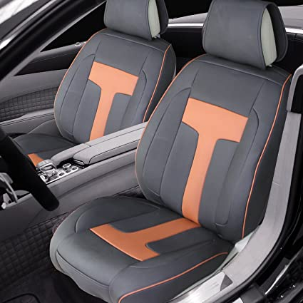 PU Leather Car Seat Covers Front Cushion Protector 2 For Women Universal