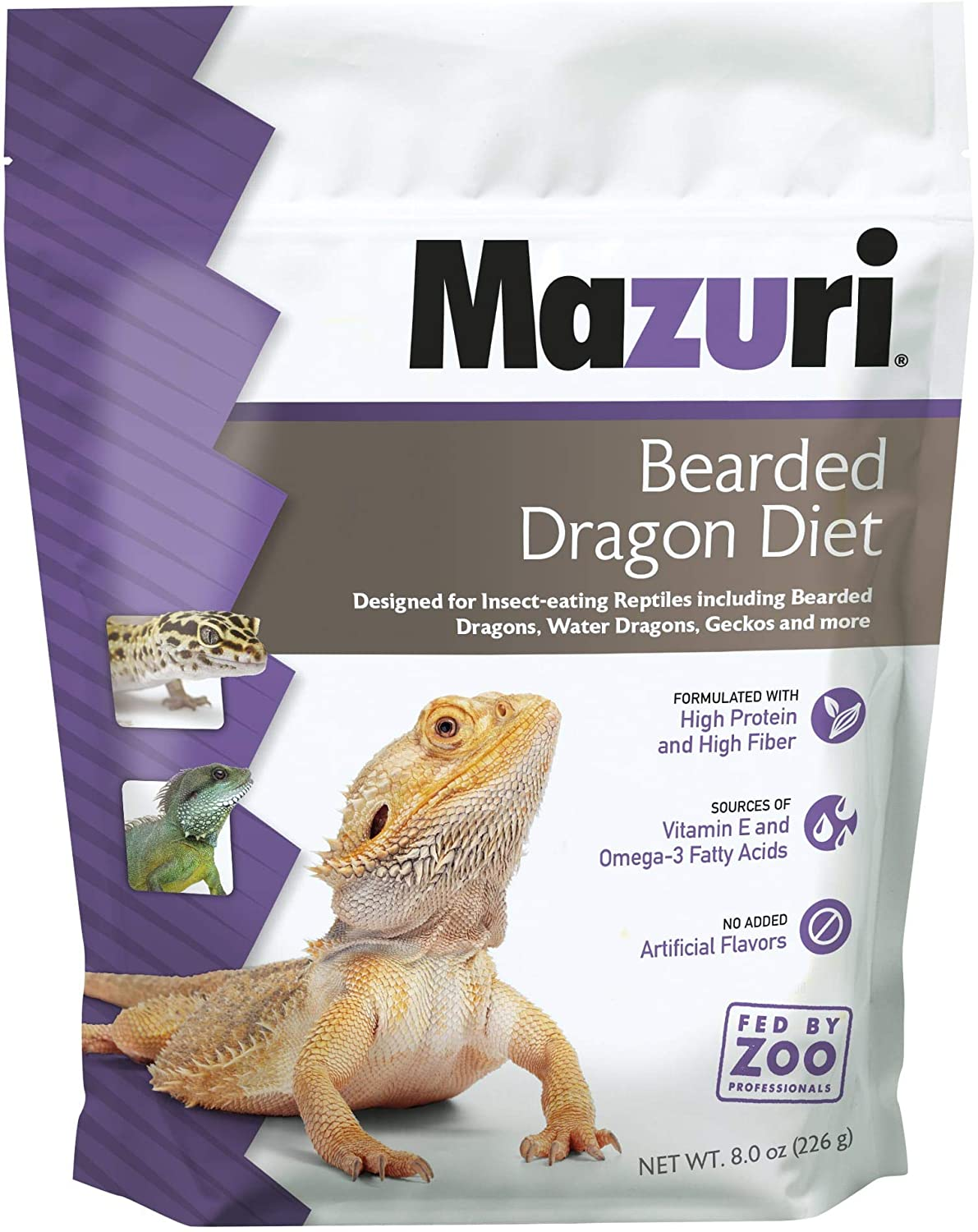 Mazuri | Bearded Dragon Food - Insect Portion of a Complete Diet | 8 Ounce (8 oz) Bag