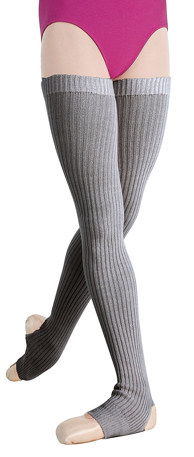 Body Wrappers Unisex Legwarmers 27 Inch Style 194, Charcoal