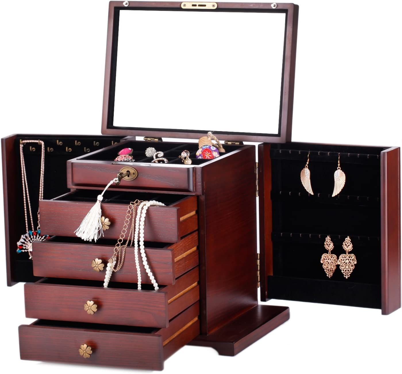 Extra Large Wooden Jewelry Box/Jewel Case Cabinet Armoire