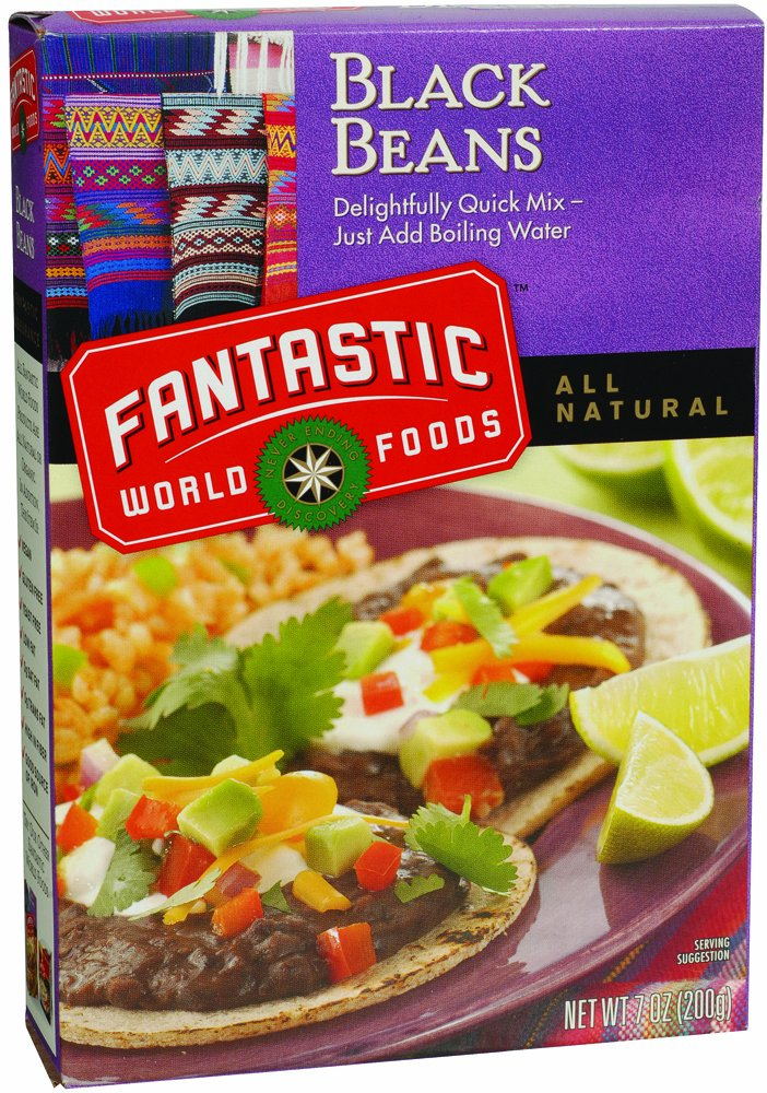 Fantastic World Foods Instant Black Beans Bulk Mix, 3.33-Pound Bag (Pack of 3)
