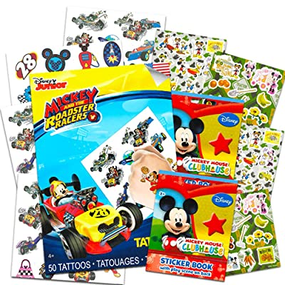 Mickey Mouse Stickers & Tattoos Party Favor Pack (200 Stickers & 50 Temporary Tattoos) by Disney: Toys & Games