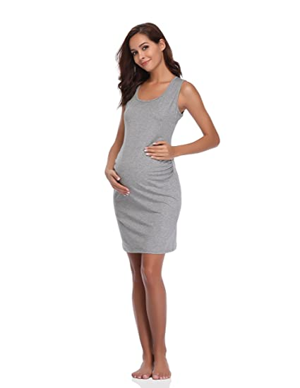 b1171bdd7d Floating Time Women s Sleeveless Maternity Dress(XL