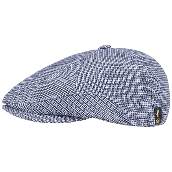 531dca4d391 Borsalino Houndstooth Viscose Flat Cap Ivy hat Summer  Amazon.co.uk   Clothing