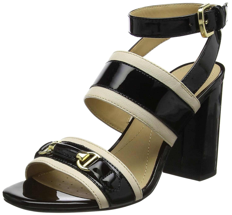 Schwarz(Skin schwarz) Geox Damen D Audalies High Sandalo C Riemchensandalen