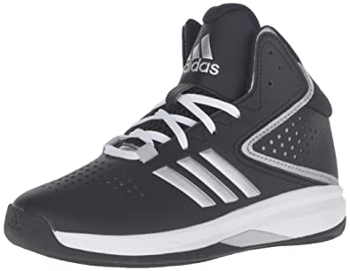 703e81359e676 adidas Boy s Cross  Em up 2016 Basketball Shoe Black Metallic Silver Light  Onix