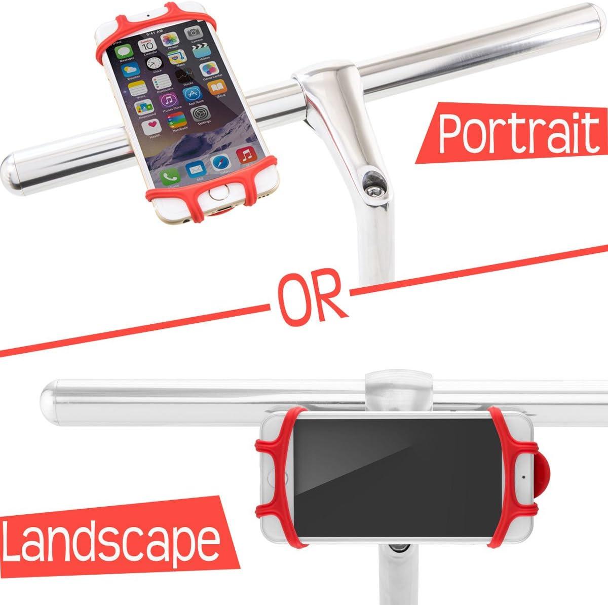 compatible avec v/élo de route ou de montag Support v/élo t/él/éphone design prim/é du support de bicyclette pour les t/él/éphones ayant des /écrans de 4 /à 6 pouces ne se brise pas ou ne rouille pas
