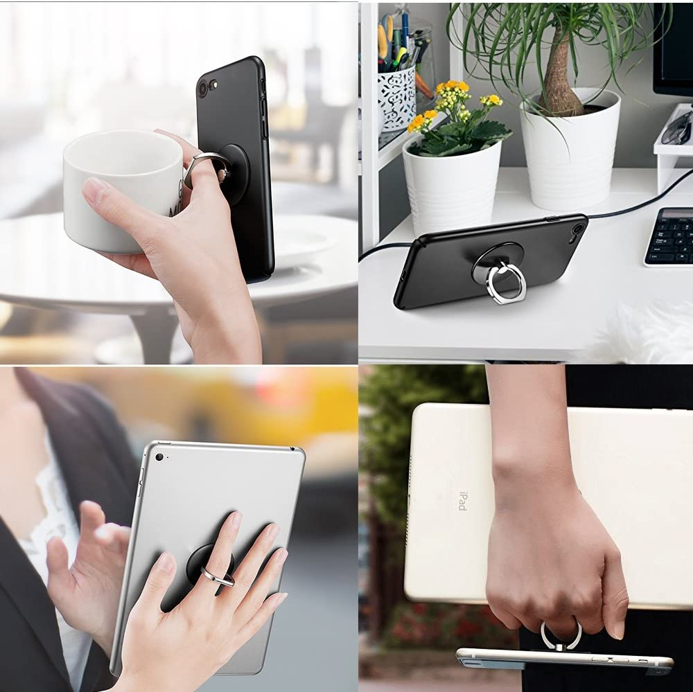 Finger Ring Stand 2 Pack,Stylish 360/°Rotation Cell Phone Ring Holder Kickstand for iPhone X 8 7 6 Plus Note iPad Moto Google Pixel HTC Smartphone ect Really Mermaid+Palm Tree Samsung Galaxy S8 S9