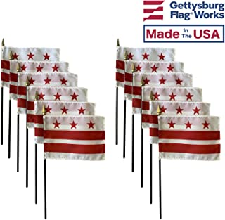 product image for 4x6 E-Gloss Washington D.C. Stick Flag - Flag Only - Qty 12