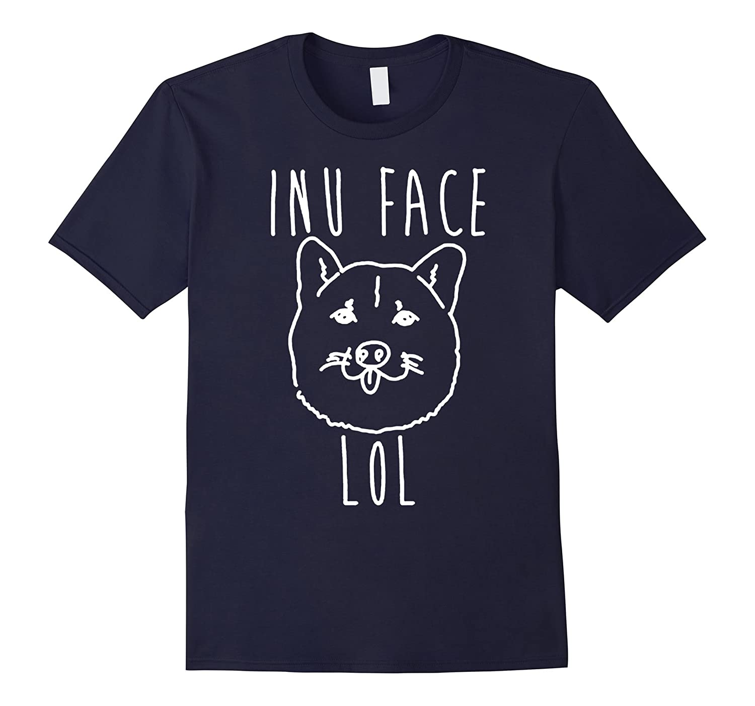 funny dog inuu face loled cute puppy dogs father t-shirts