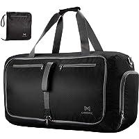 OMorc Duffel Bag Gym Bag Impermeable, Gran Capacidad 60L,Bolsa Plegables, Resistente al Agua con Correa de Hombro Extraíble para Viaje y Gimnasio Las Mujeres y los Hombres
