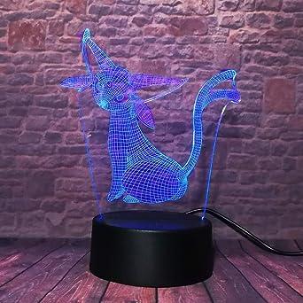 orangeww Luces LED de ilusión óptica 3d / 7 luces nocturnas de ...
