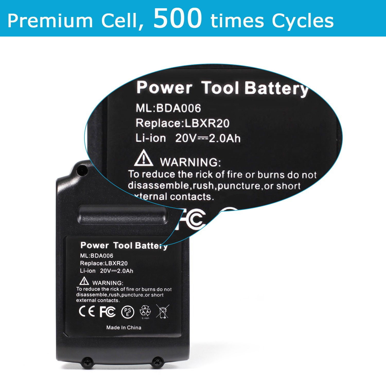 SISGAD 20V Max 5 0Ah Lithium Replacement Battery for Porter Cable