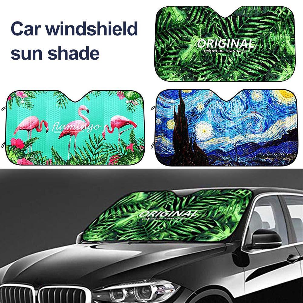 R/éflecteur UV Soleil Et Chaleur LIJUMN Pare-brise Pare-brise Voiture Rainforest Universal Fit Parasol Pour Voiture Gardez Votre V/éhicule Au Frais