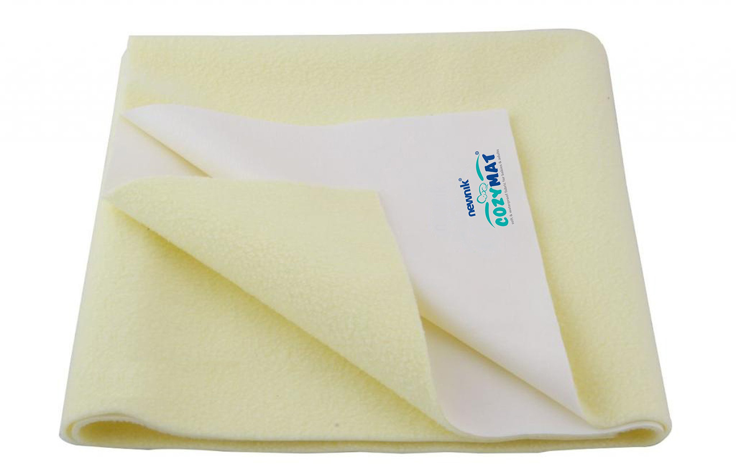 Cozymat Dry Sheet waterproof breathable Bed Protector (Size: 70cm X 100cm) Yellow, Medium