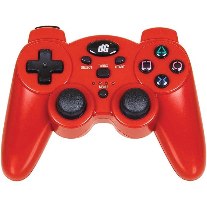 dreamGEAR Radium, PS3 - Volante/mando (PS3, Mando de juegos, PC, Playstation 3, Inalámbrico, 2.4 GHz, AAA, Rojo): Amazon.es: Videojuegos