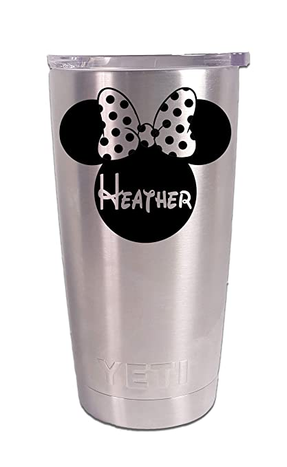 f6bd2a0e45d Image Unavailable. Image not available for. Color: Disney Personalized  Minnie Mouse Tumbler Laser Engraved Yeti ...