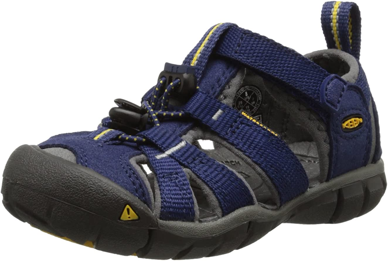 KEEN unisex-child Seacamp II CNX Water Sandal 11 M US Little Kid Blue Depths// Gargoyle