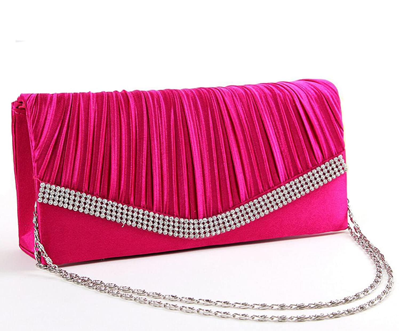 Woman Wrinkle Graceful Clutch Handbag Evening Bag