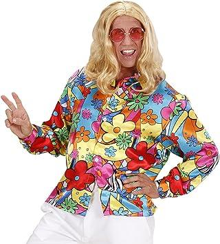 NET TOYS Camisa Hippie de Colores Camiseta Flores Hombre XXL 56 Parte de Arriba Flower Power Disfraz Hombre Hippie Outfit a la Moda Ropa años 60 75: Amazon.es: Juguetes y juegos