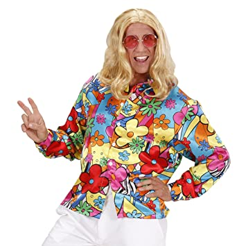 Net Toys Buntes Hippiehemd Blumenhemd Herren M 50 Flower Power Hemd