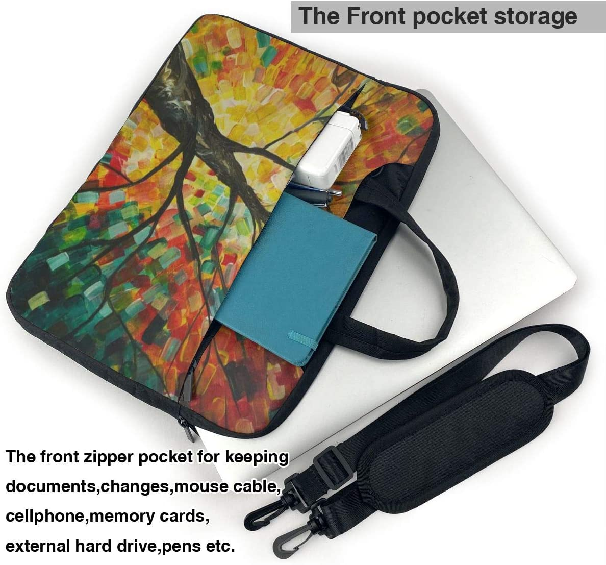Art Tree Portable Business Notebook Liner Protective Bag for MacBook Pro//MacBook Air//Asus//Dell 14 Inch Lovesofun Neoprene Laptop Sleeve Case
