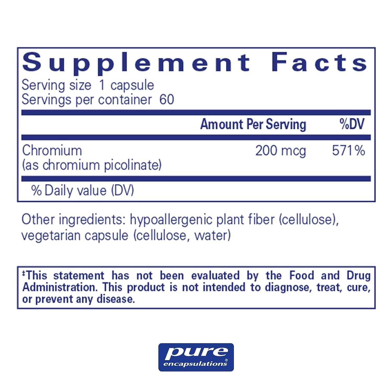 Pure Encapsulations - Chromium Picolinate (200 mcg) - Hypoallergenic  Support for Healthy