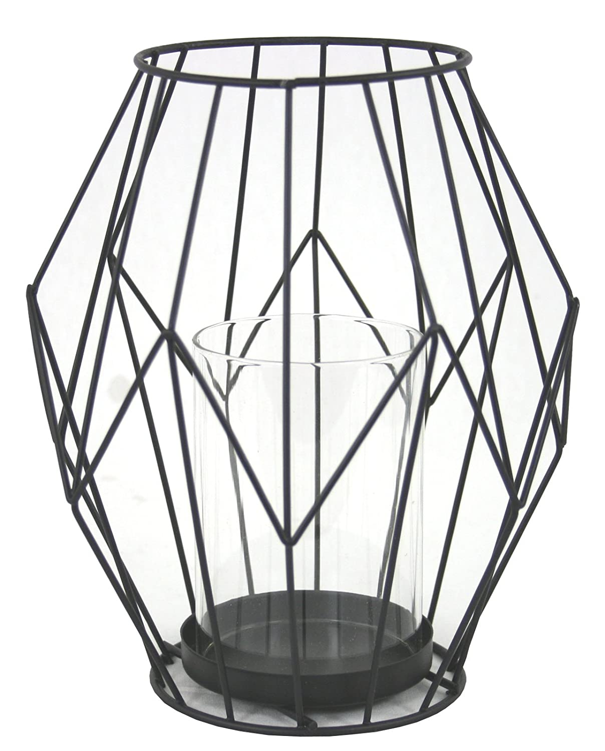 marymarygardens Black Geometric Candle Lantern