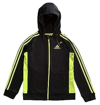 fcc73538b9b2 Amazon.com  adidas Active Full Zip Hooded Track Jacket For Boys ...