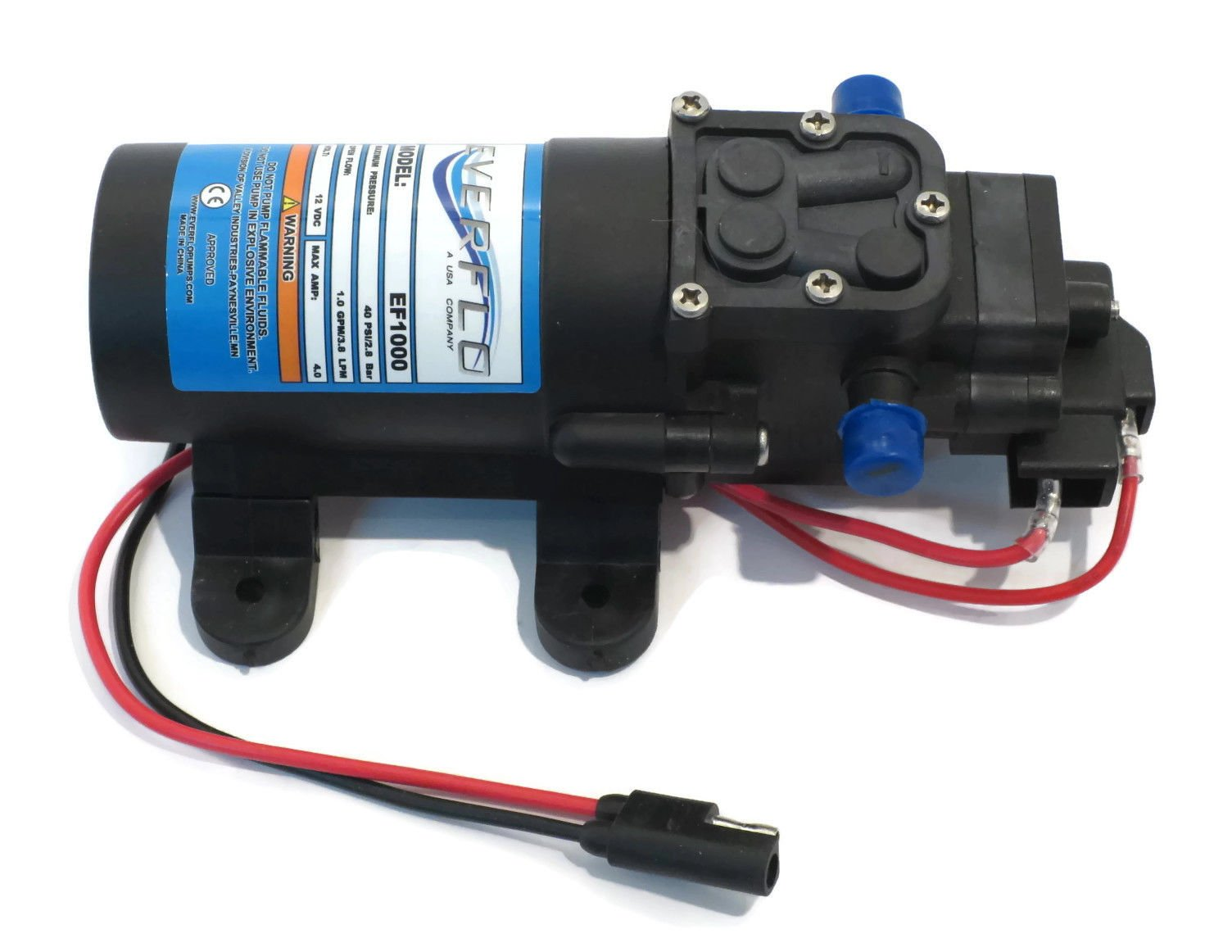 New 1.0 GPM 40 psi 12 Volt Diaphragm ON Demand WATER PUMP w/ Wire Power Harness by The ROP Shop by The ROP Shop (Image #6)