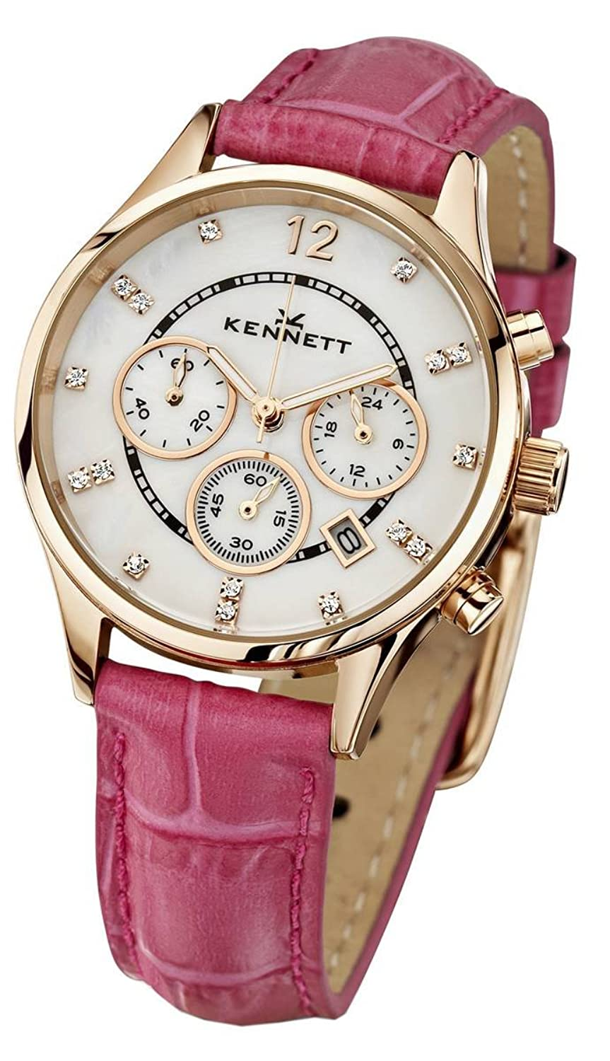 Kennett Watches Lwsavwhgolpk Damen Savro Gold Ton & Heiße Rosa Uhr Leather