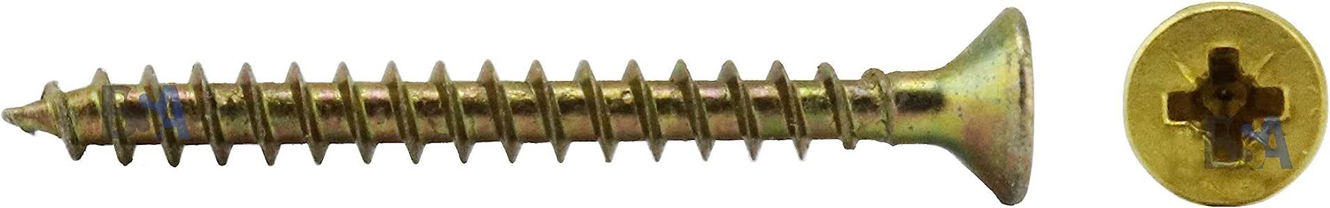 500 tornillos 3 x 35 mm rosca IROX acero galvanizado amarillo cabeza cruz Pozidriv PZD plana avellanada tornillo para madera y aglomerado 3 x 35 aglomerados