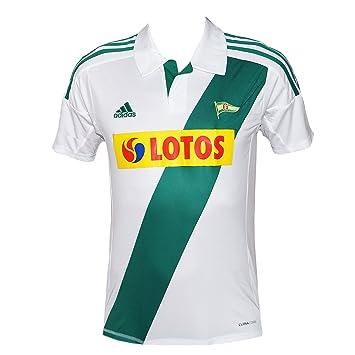 adidas KS Lechia Gdansk Camiseta infantil color blanco/verde de fútbol jersey, Wei, 152: Amazon.es: Deportes y aire libre