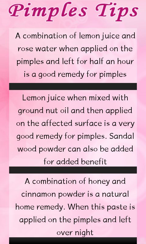 Natural methods to remove pimples