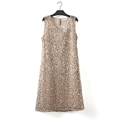 COOCOl Drop Shipping Plus Size Stretchable Women Sequin Sleeveless Dress Casual Dresses Party Evening Elegant Vestidos