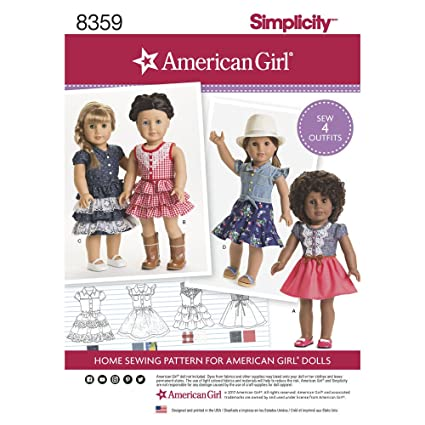 Amazon.com: Simplicity Sewing Pattern D0680 / 8359 - 18\