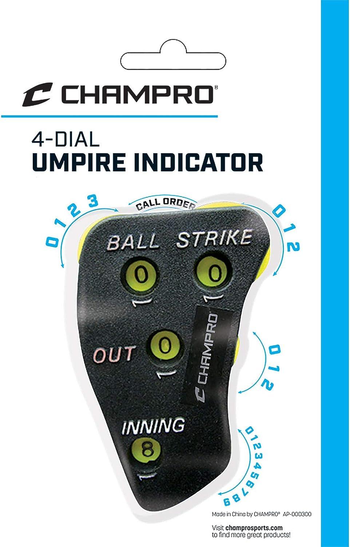 4 Wheel Baseball Umpire Indicator to Display Balls Strikes Outs and Innings