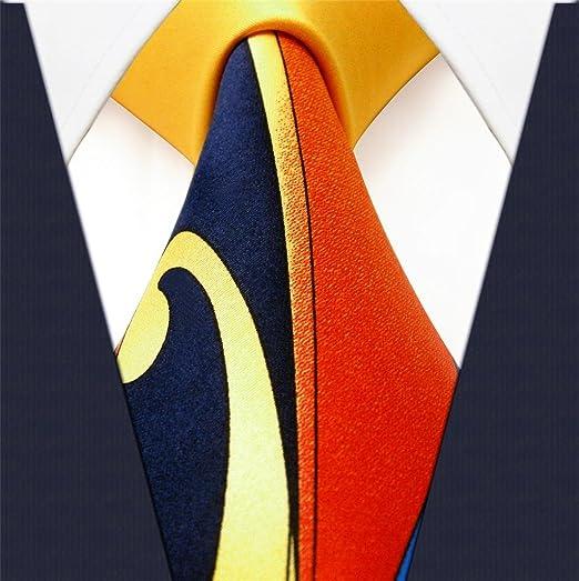 Shlax&Wing La Moda único Hombre Seda Corbatas Para Amarillo ...