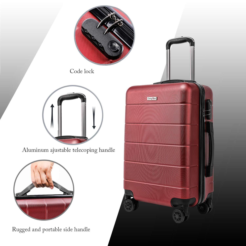 -19TC1-Rojo 4 Ruedas Duales Giratorias CarryOne Maleta Superligera Contrase/ña Cerradura| Equipaje para Viajar 55 X 37 X 22CM - 39L
