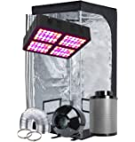 "TopoGrow LED Grow Tent Complete Kit LED 600W LED Grow Light Kit +32""X32""X63"" Indoor Grow Tent + 4"" Fan Filter Ducting…"